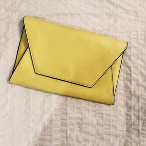 Neon yellow clutch- Zara